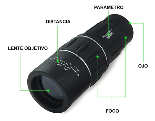 monocular hd 16x52 profesional lentes pro bak4 waterproof