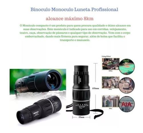 monóculo 8km profissional tático luneta telescópio oferta