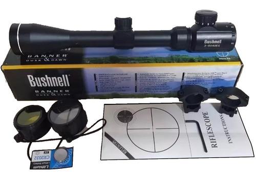 monóculo luneta bushnell 3x9x40 eg - escolha o mount