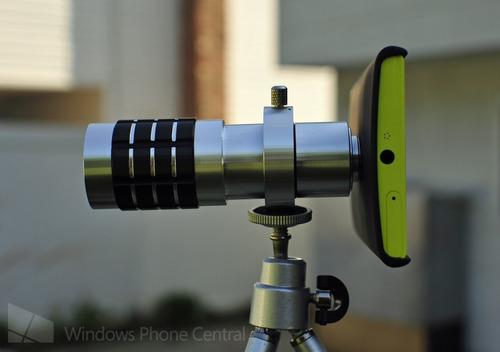 monóculo luneta universal p celulares camera zoom 12x +tripé