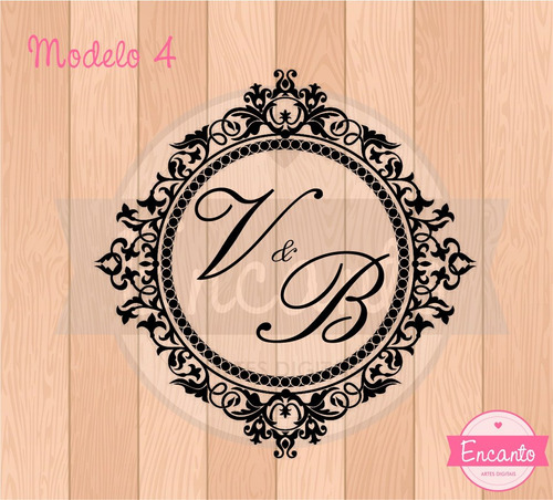 monograma brasão casamento - arte digital