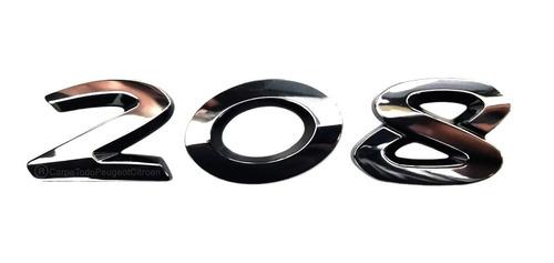 monograma logo numero peugeot 208 gti 100% original