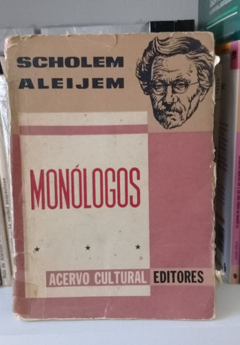 monólogos de scholem aleijem. teatro