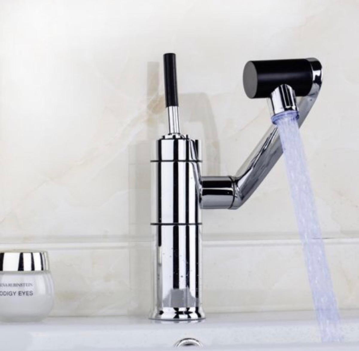 Monomando llave mezcladora con luz led grifo lavabo r0 135 for Llave mezcladora para lavabo precio