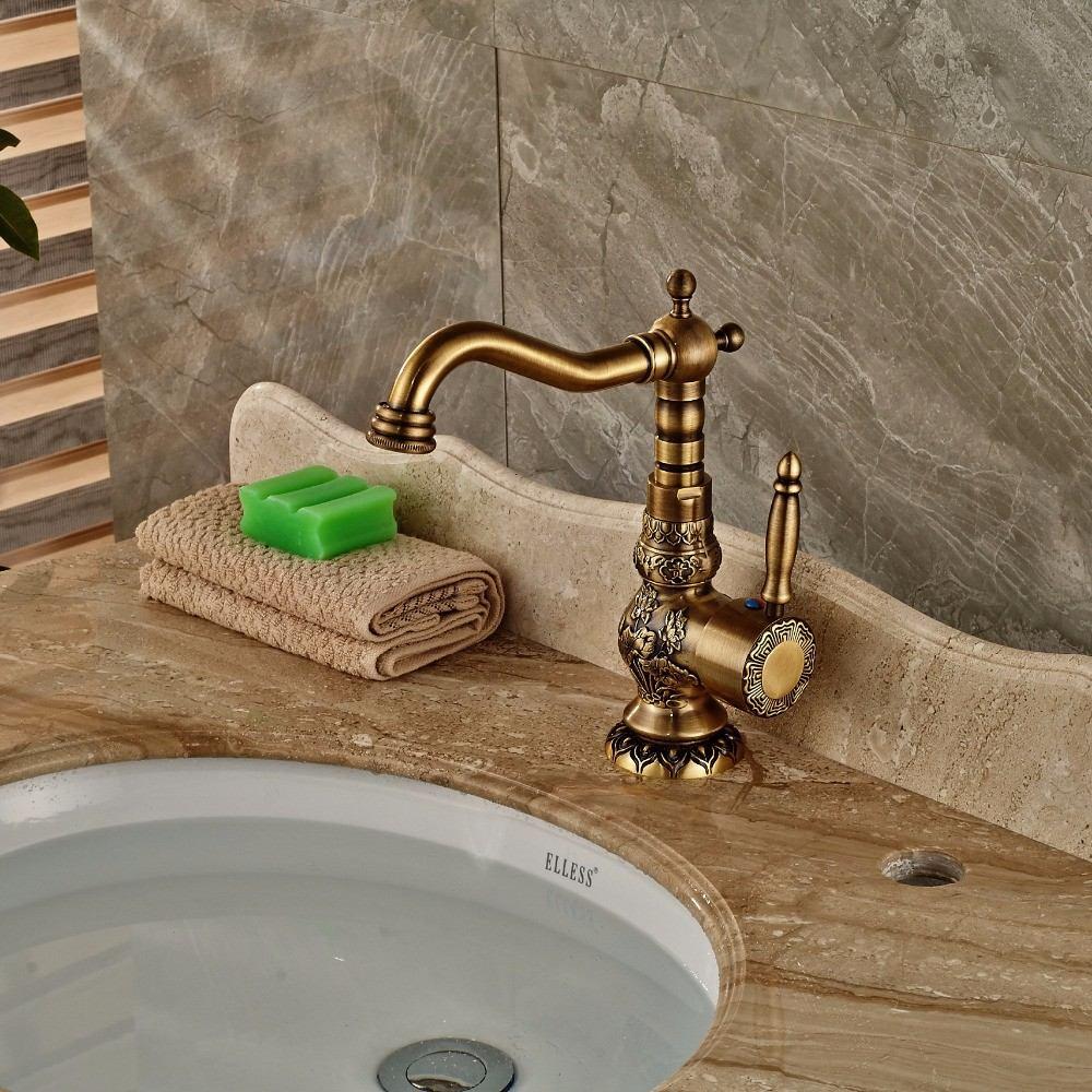 Monomando llave lavabo ba o bronce antiguo decorado 8a12dh 2 en mercado libre - Monomando lavabo ...