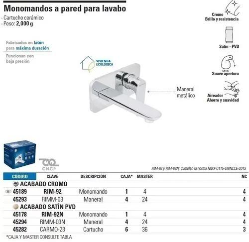 monomandos a pared para lavabo foset a45178  envío gratis