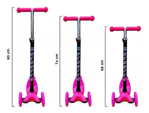 monopatin 4 ruedas con luces garden toy m7 tipo globber