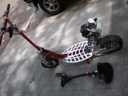 monopatin 49 cc 2  freno de disco susp del asiento desmont