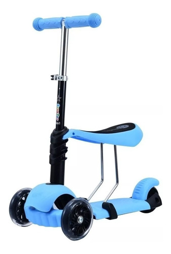 monopatin aluminio scooter love 7820 freno 3 ruedas asiento
