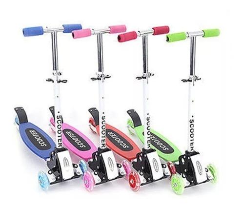 monopatin cuatri-scooter silicona 4 ruedas colores dia niño!