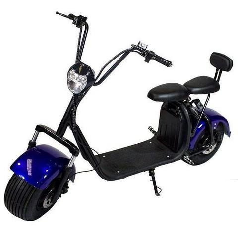 monopatin electrico citycoco fx06 blanc golf 2 asiento 1500w