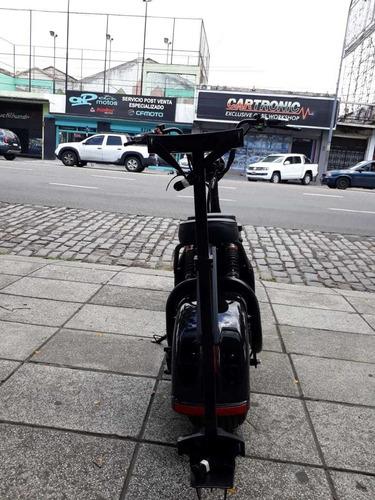 monopatin electrico citycoco fx06 negro golf 2 asiento 1500w
