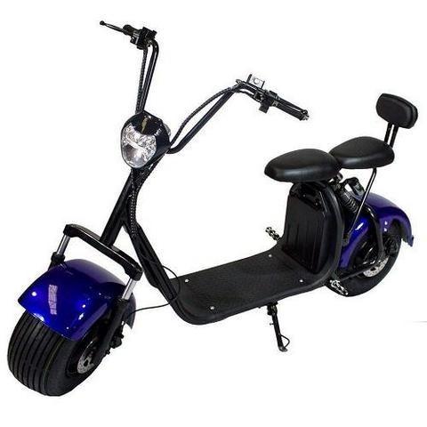 monopatin electrico citycoco fx07 negro golf 2 asiento 2000w