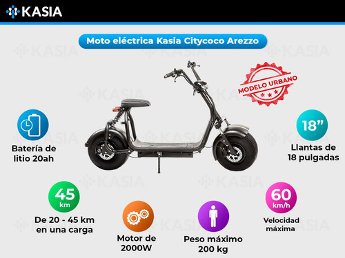 monopatin electrico kasia citycoco arezzo premium nueva