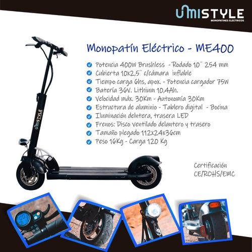 monopatín eléctrico mistyle 400w potencia