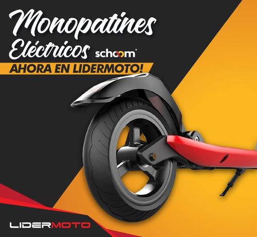 monopatin eléctrico schoom autonomía 30kmts usb lidermoto