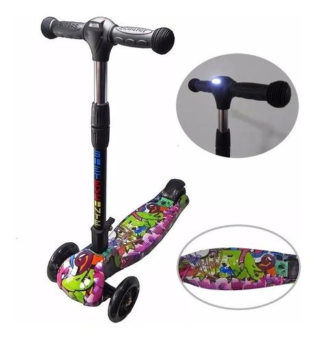 monopatin infantil de 3 ruedas scooter estampados con freno