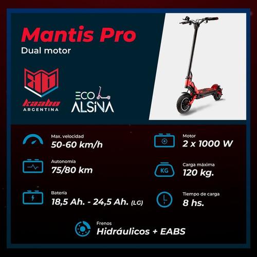 monopatín kaabo mantis pro / dual 1000 watts x2 eco alsina