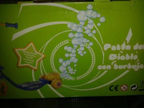 monopatin lanza burbujas, 3 ruedas unisex. oferta