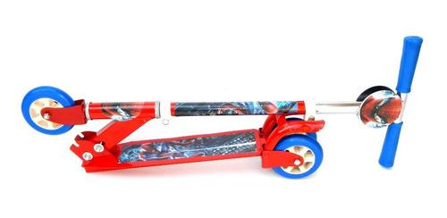 monopatin plegable de 3 ruedas metalico de personajes