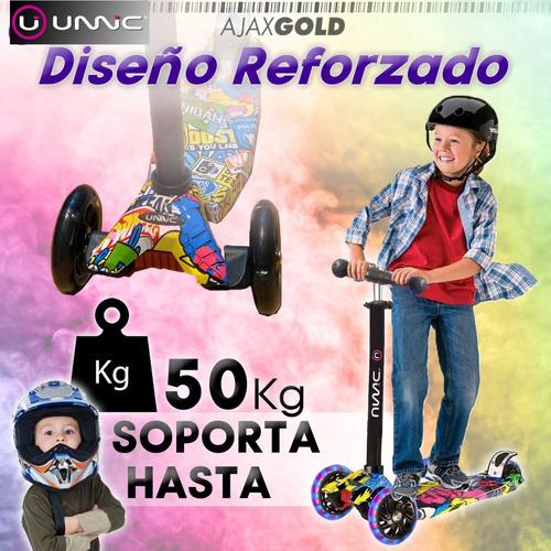 monopatin plegable reforzado premium para chicos nenas