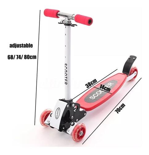 monopatin plegable scooter 4 ruedas reforzado niños colores