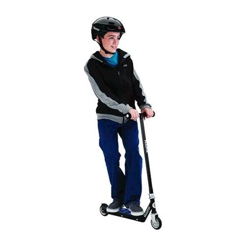 monopatin razor tekno negro scooter liviano niños
