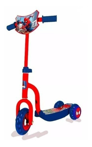 monopatin scooter 3 ruedas infantil spiderman lic. oficial