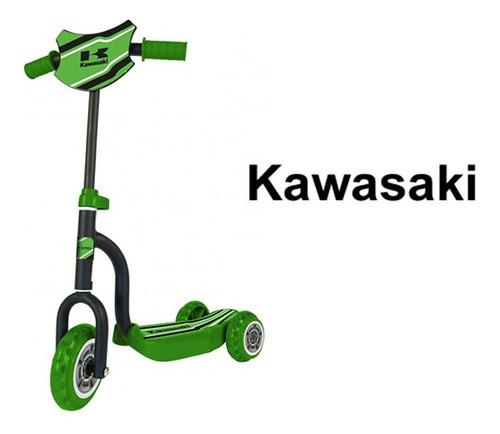 monopatin scooter 3 ruedas kawasaki licencia oficial
