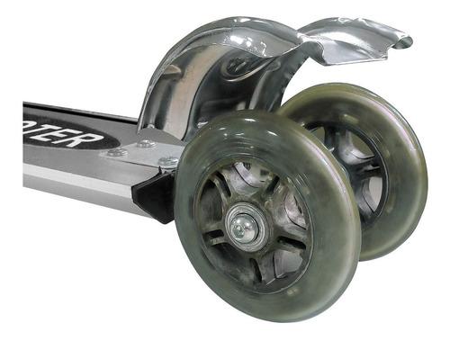 monopatin scooter aluminio p/ chicos plegable 50kg 2 ruedas