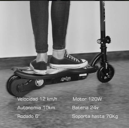 monopatin scooter eléctrico recargable doble bateria 24 volt