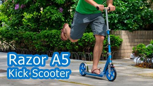 monopatin scooter razor a5 lux ruedas grandes 8+ rojo