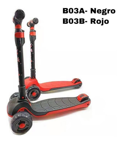 monopatin super scooter con luz led-cod. b03a-b03b