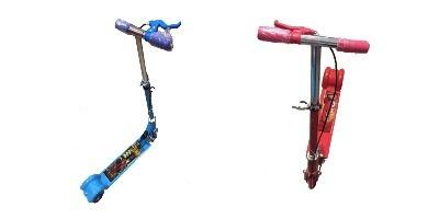 monopatineta, patineta, scooter plegable con stickers disney