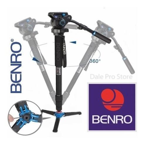 monopé benro p/ vídeo a48tds6 c/ cabeça hidráulica p/ 6kg