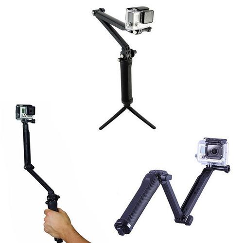 monopod bastão pau selfie 3way 3 formas tripé gopro sjcam