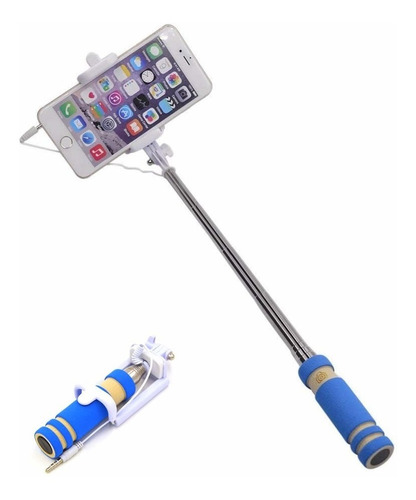 monopod baston palo con cable selfie stick android iphone