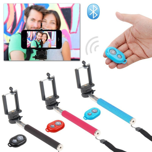 monopod baston selfie extensible + remote shutter bluetooth