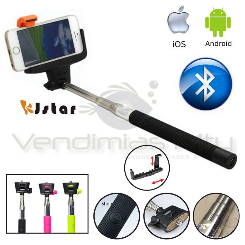 monopod bluetooth selfie stick iphone android brazo gopro en mercado libre. Black Bedroom Furniture Sets. Home Design Ideas