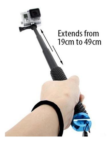 monopod brazo mono gopro pod waterproof contra agua 50cm