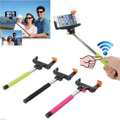 monopod con holder bluetooth control remoto integrado