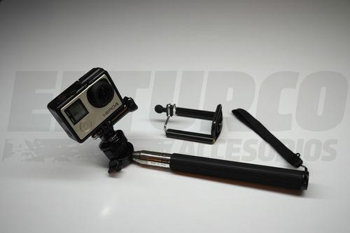 monopod gopro  selfie stick compatible  sjcam o celular