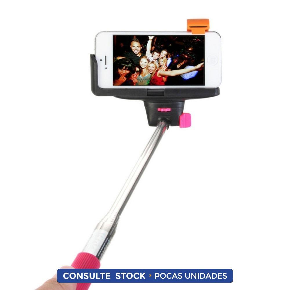 monopod palo selfies rosado disparador bluetooth 3 integrado 260 00 en me. Black Bedroom Furniture Sets. Home Design Ideas