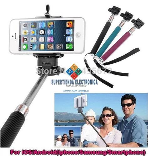 monopod para selfies con control remoto bluetooth