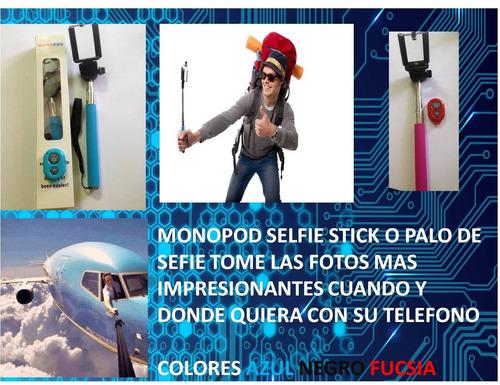 monopod sefie stick bluetooth con control remoto