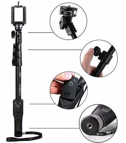 monopod selfie bluetooth yunteng celulares gopro + trípode