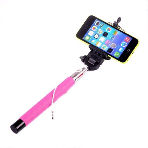 monopod selfie cable iphone samsung fotos celular metal 1mt
