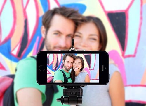 monopod selfie + clip adaptador para tu celular universal