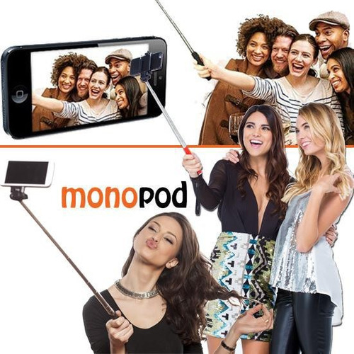 monopod selfie stick con cable iphone samsung fotos android