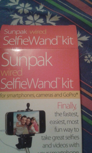 monopod sunpak wired selfiewand kit go pro selfie